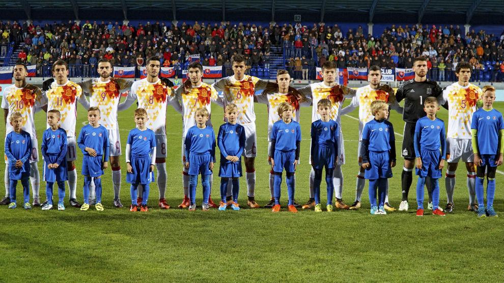 Hilo de la selección de España sub 21 e inferiores 15101819125460