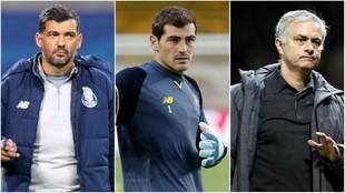 Conceiçao, Casillas y Mourinho.