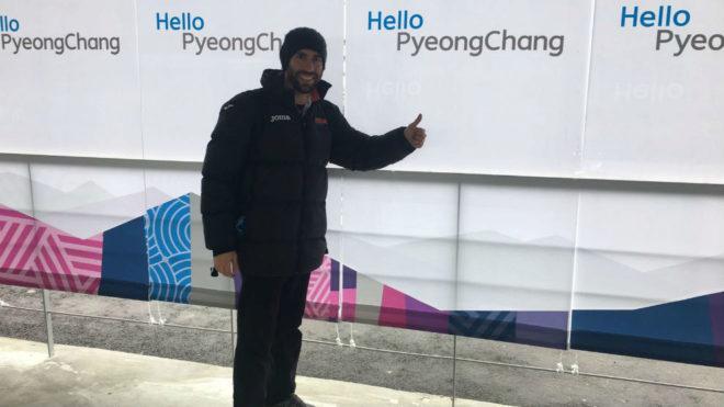 Ander Mirambell, en la pista de Pyeongchang.
