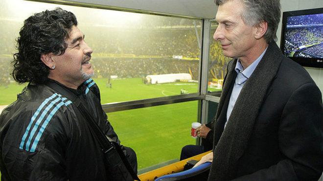 Maradona y Macri, en otras épocas.