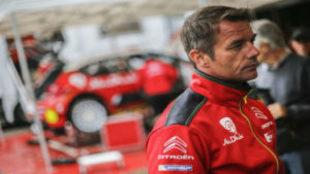 Loeb, en el test con Citroën.