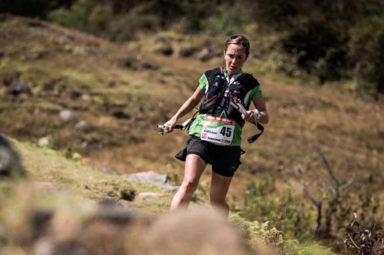 Ester Alves, durante la primera etapa.