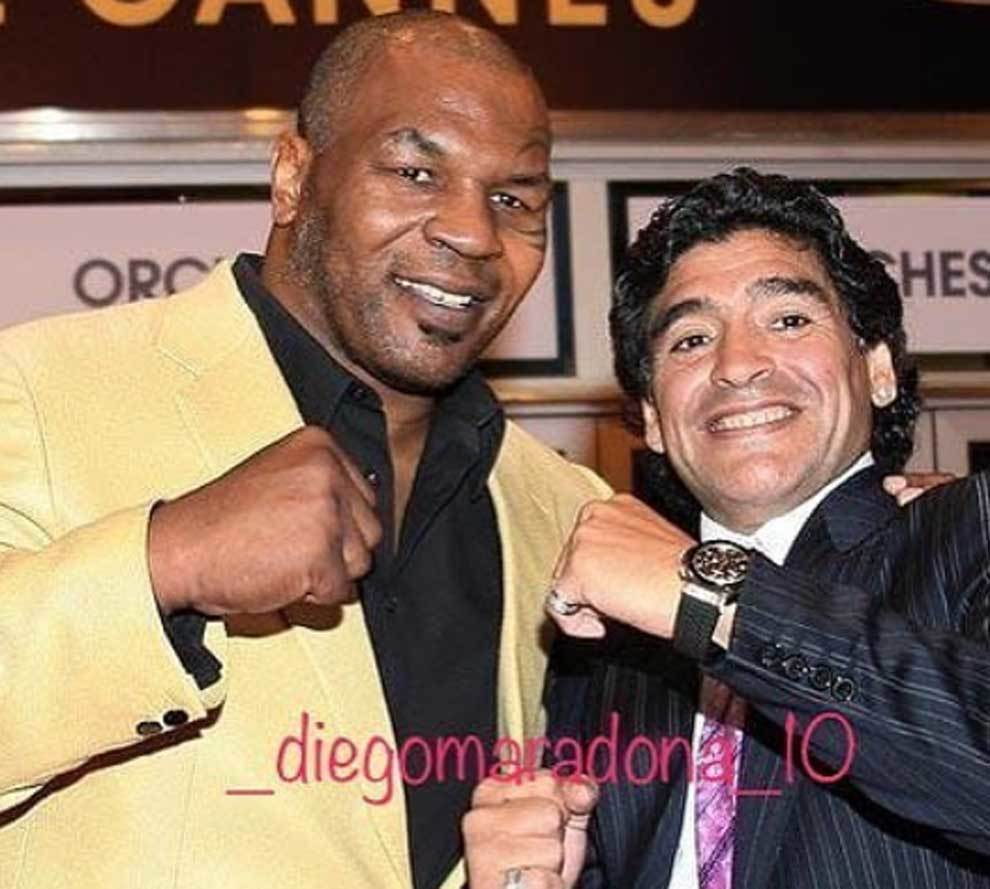 Mike Tyson y Diego Armando Maradona