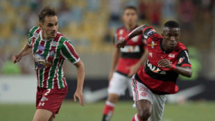Vinicius Jr. (17), en un partido entre el Flamengo y el Fluminense