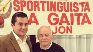 Jorge Guerrero, presidente de la FPS, y Fernando Fueyo en el 33...