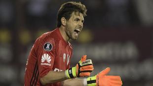 Lux (35), en un partido de River Plate por la Copa Libertadores