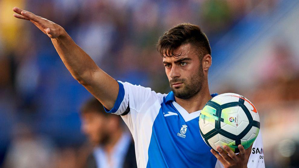Diego Rico, jugador del Leganés durante un partido con el conjunto...