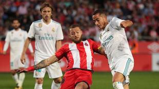 Timor (28), durante un partido entre el Girona y el Real Madrid