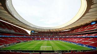 Imagen del Wanda Metropolitano desde la grada.