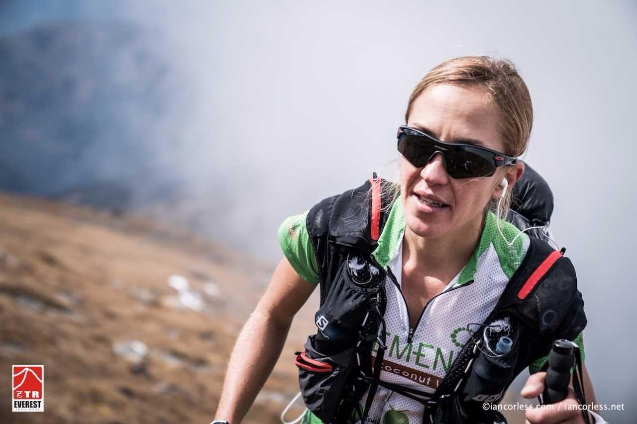 Ester Alves, durante el recorrido.