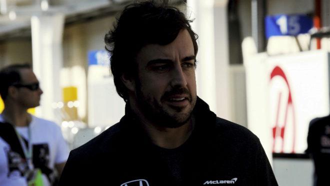 Fernando Alonso, en Interlagos.