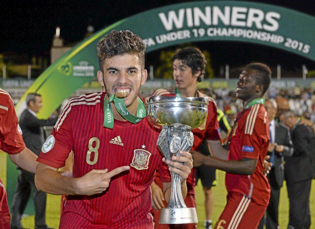 Dani Ceballos of Spain following their UEFA European Under-<HIT>19</HIT> Championship final against Russia