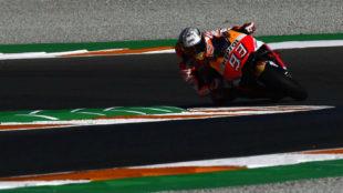 Marc M�rquez, en el circuito de Cheste