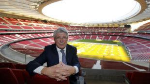 Enrique Cerezo, en el Wanda Metropolitano
