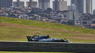 Lewis Hamilton, en Interlagos
