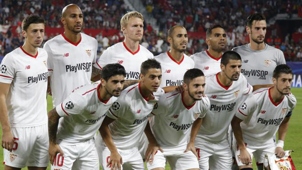 El once del Sevilla contra el Spartak