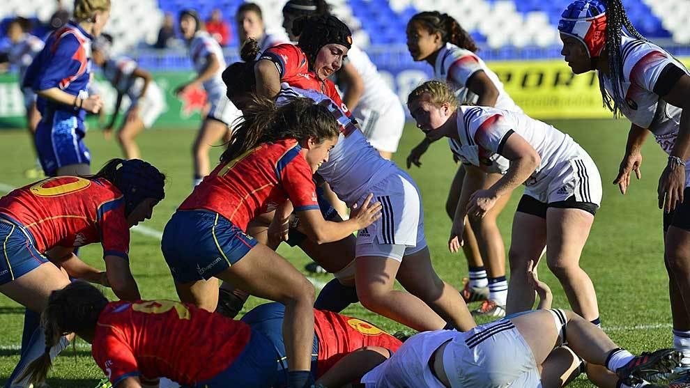 Las jugadoras españolas apenas pudieron plantar cara a Francia en...