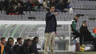 Merino, durante el partido contra Osasuna en El Arcangel.