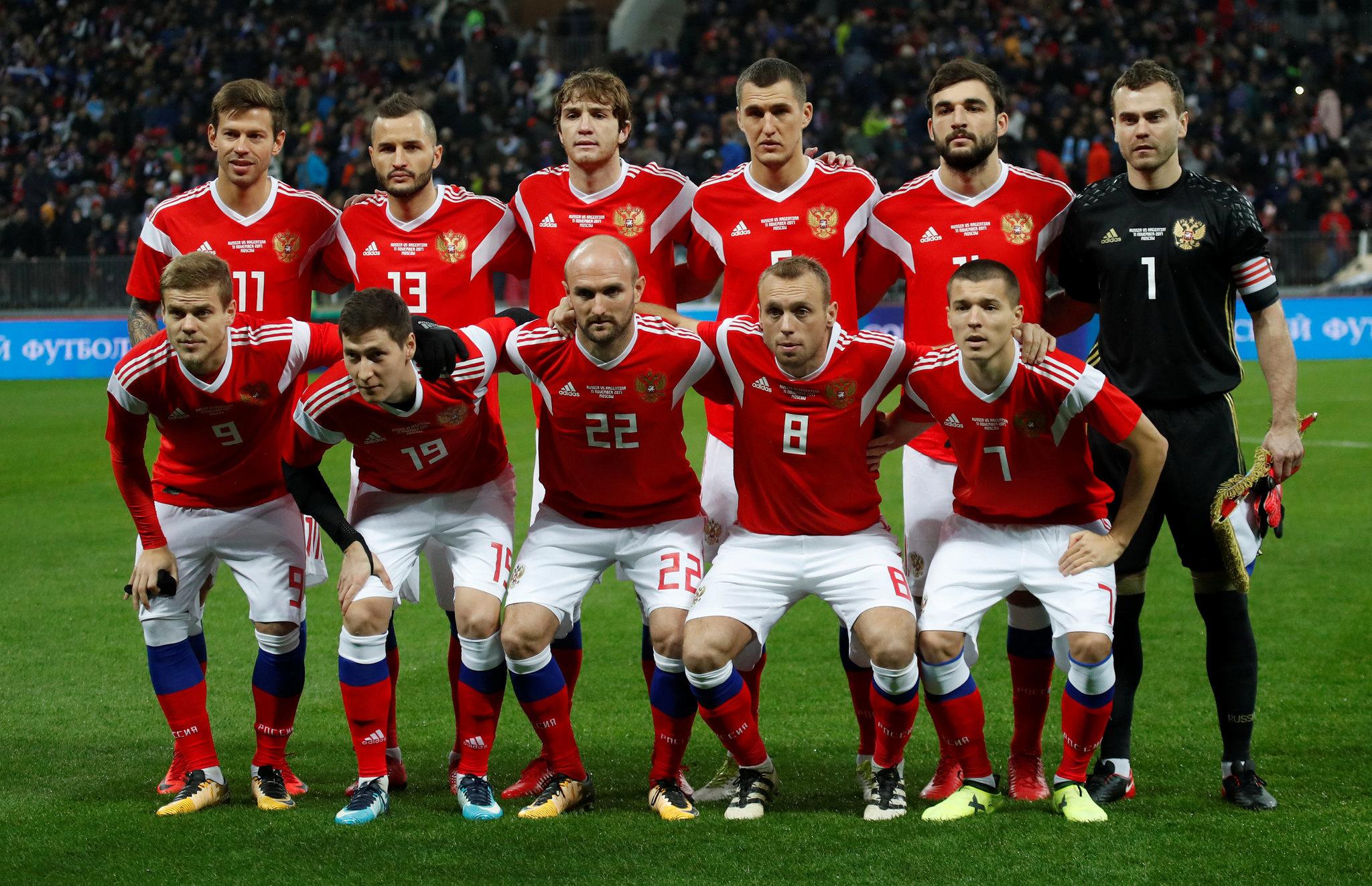 Once inicial de Rusia en el amistoso de este sábado, compuesto por...