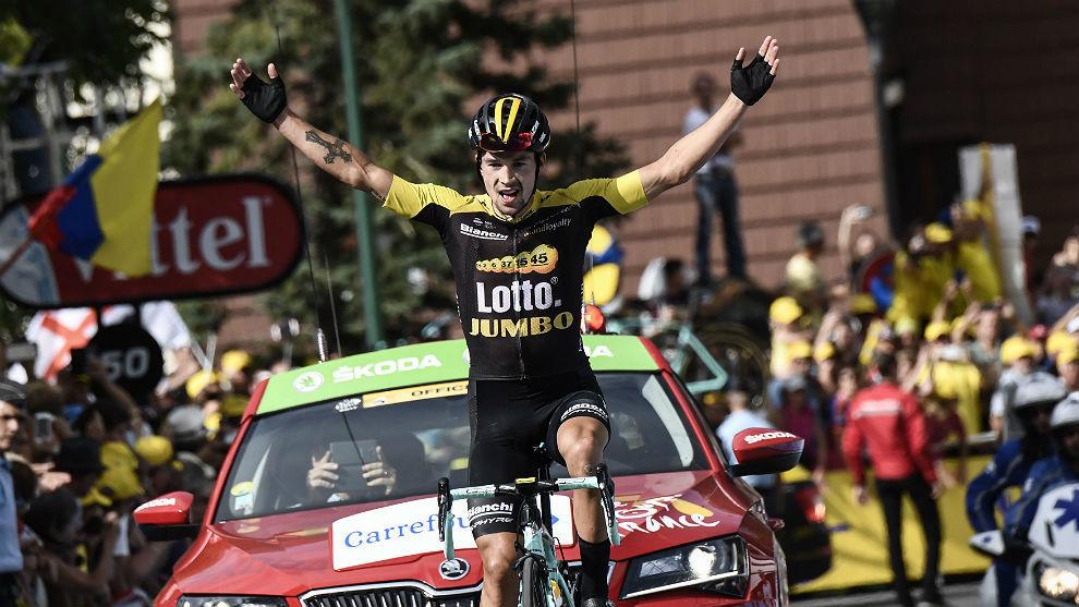 El esloveno Primoz Roglic venció la etapa del Tour en Serre...