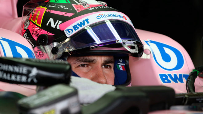 Checo Pérez, en su Force India