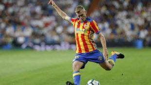 Lato, en un partido con el Valencia