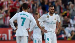 Benzema con Cristiano Ronaldo en un partido con el Real Madrid