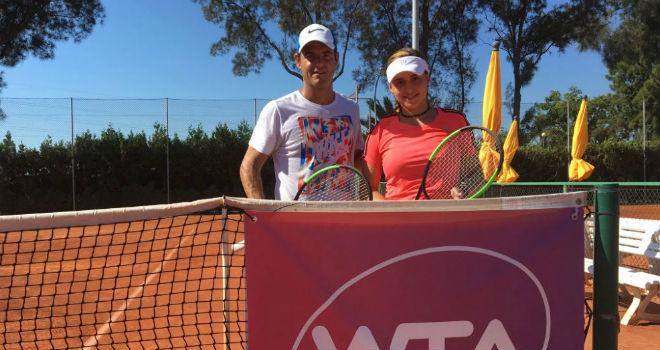 Pablo Lozano y Dalila Said en la Lozano Altur Tennis Academy.