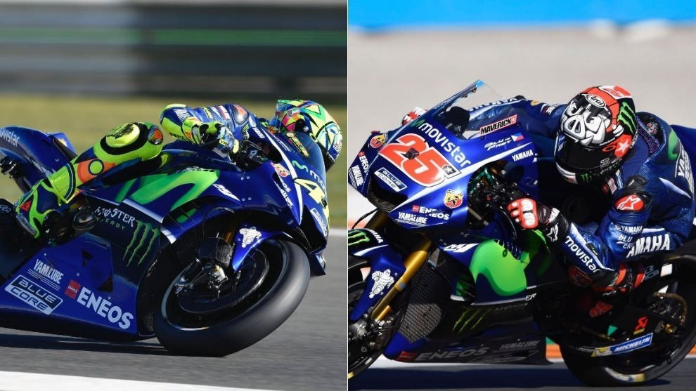 Rossi y Viñales en Cheste