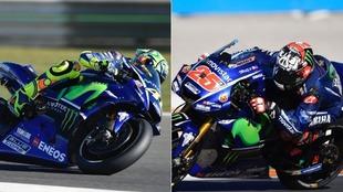 Rossi y Vi�ales en Cheste