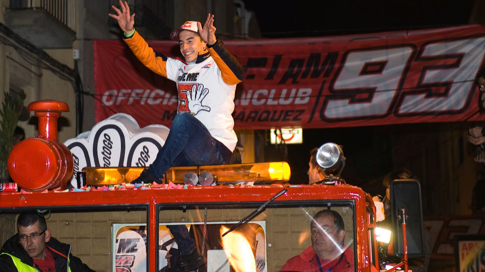 Marc celebrando su título de 2016 en Cervera.