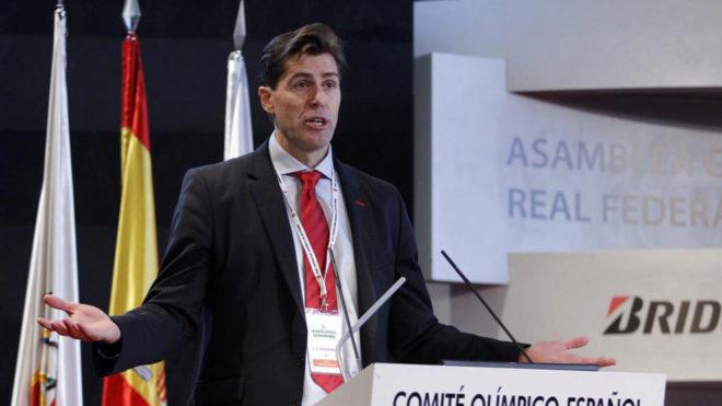 Raúl Chapado, durante una Asamblea de la Real Federación de...