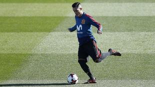 Callejón, durante un entrenamiento reciente con España en Las Rozas