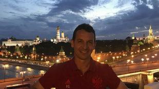 Paulino Granero, en Moscú.