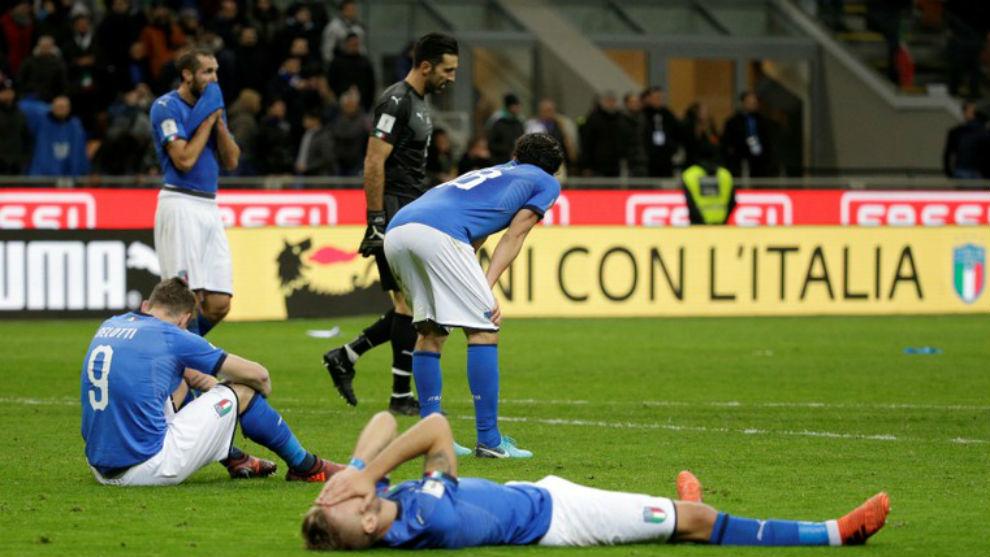 La desolación italiana tras quedarse fuera del Mundial de Rusia.
