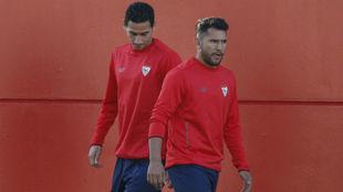 Montoya y Ganso, en un entrenamiento.