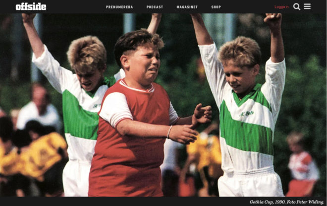 La fotografía de Widing en la que se ve a tres niños en la Gothia...