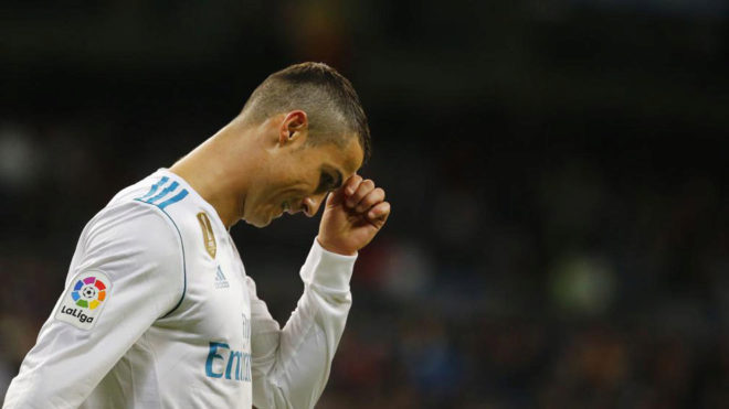 Cristiano Ronaldo, en el partido ante Las Palmas.
