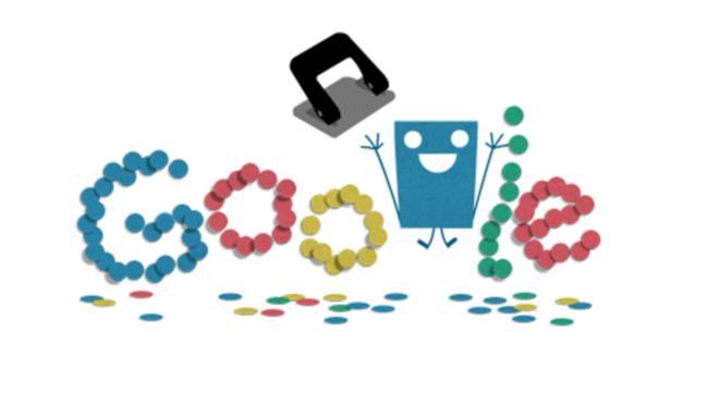 131 años de historia de la perforadora de papel en el doodle de hoy