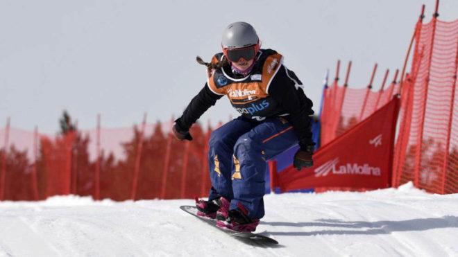 Astrid Fina en plena competición.