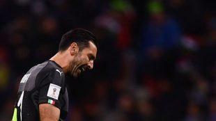 Gianluiggi Buffon durante su último partido