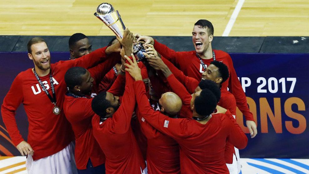 El Team USA celebra el título de la Americup