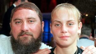 Jelena Dokic junto a su padre en el año 2000