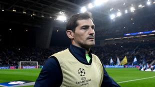 Casillas (36), en la previa de un partido del Oporto en la Champions...