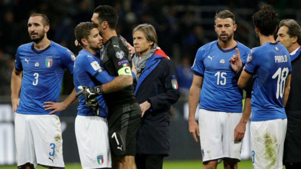 Chiellini, Jorginho, Buffon, Barzagli y Parolo, hundidos tras perder...
