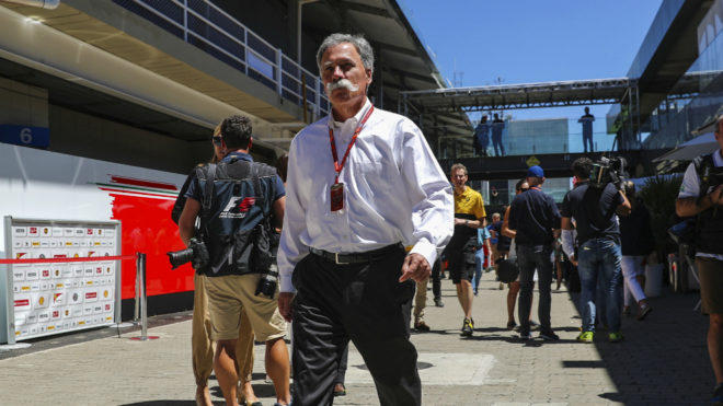 Chase Carey, en Interlagos.