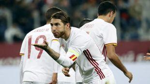 Ramos celebrando uno de sus tantos