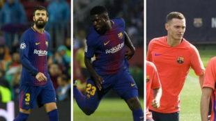 Piqu�, Umtiti y Vermaelen, los tres centrales sanos de Valverde.