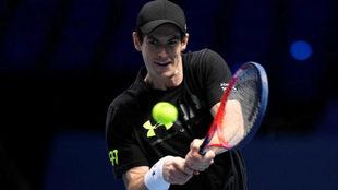 Andy Murray durante un entrenamiento la pasada semana en Londres.