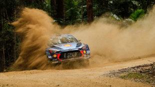 El belga, con su Hyundai i20 Coupé WRC.